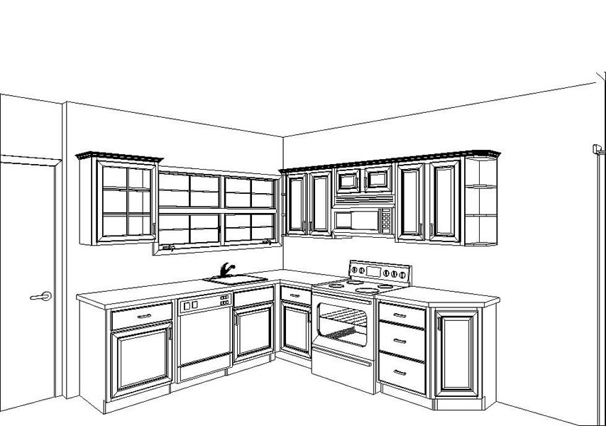 Plan kitchen cabinet layout plans free download grumpy41fnk for Free kitchen design layout templates